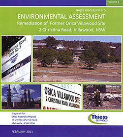 Orica Villawood Environmental Assessment cover